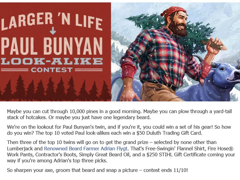 The Duluth Trading Co. Paul Bunyan Look-alike Contest