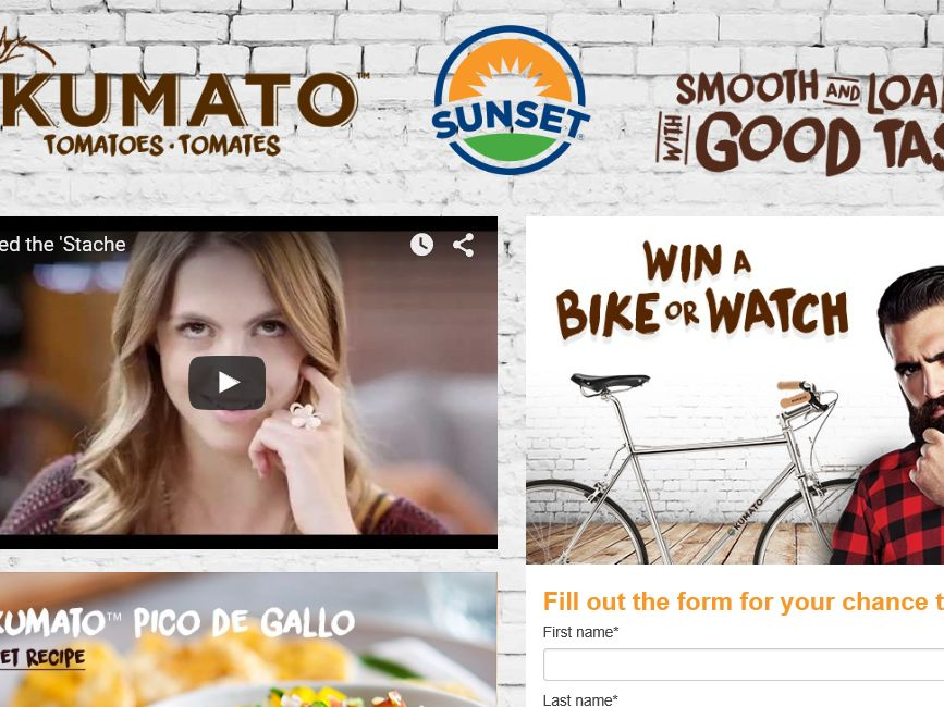The Sunset Feed the Stache Sweepstakes