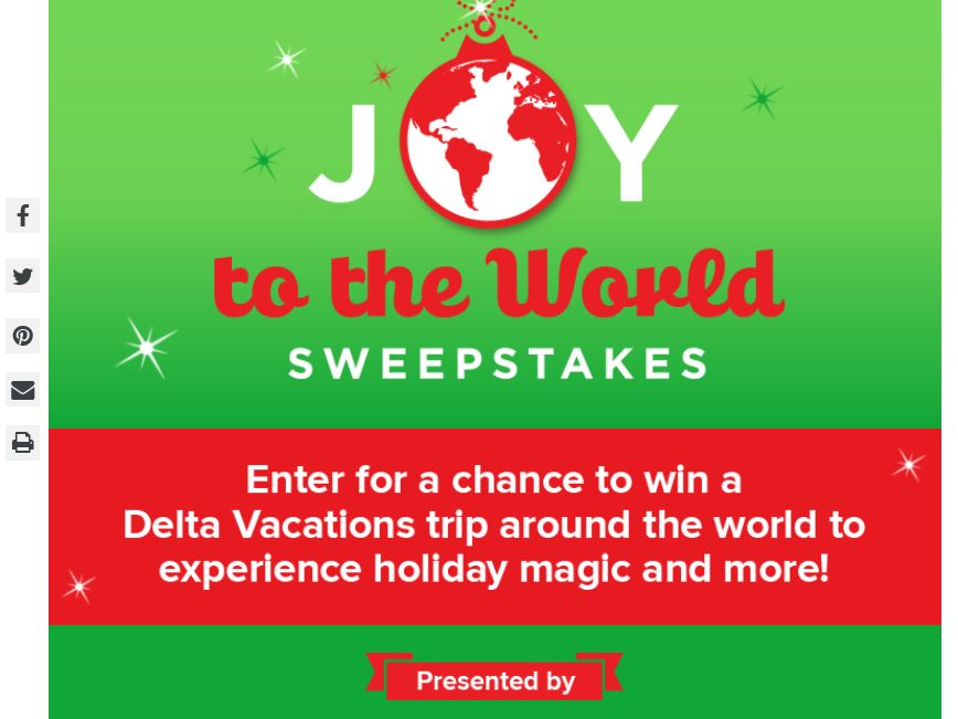 Hallmark Joy To The World Sweepstakes