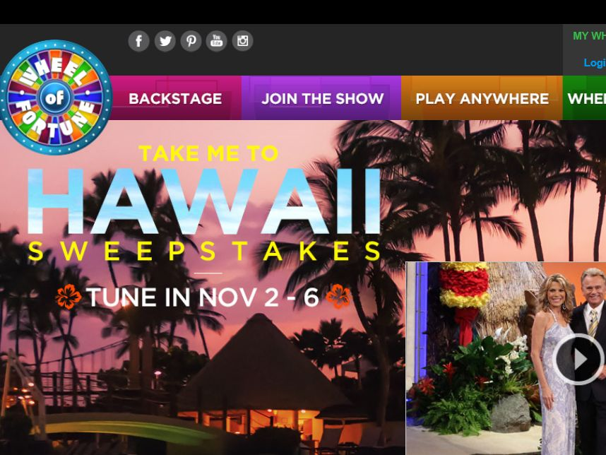 "The Wheel of Fortune ""Take Me To Hawaii"" Sweepstakes"