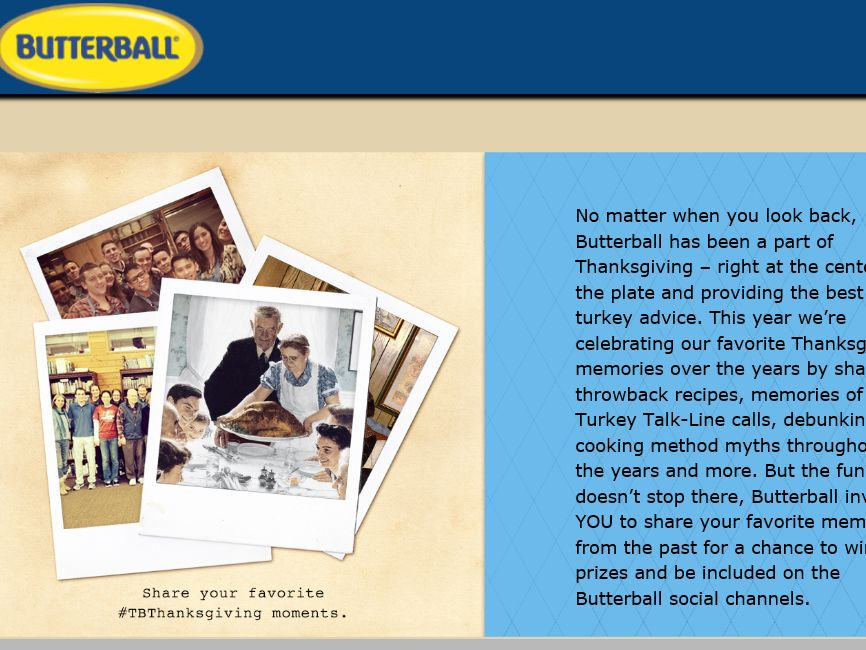 The Butterball Throwback Photo Sweepstakes