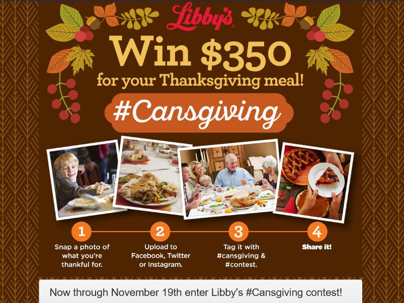 The Libby's #Cansgiving Sweepstakes