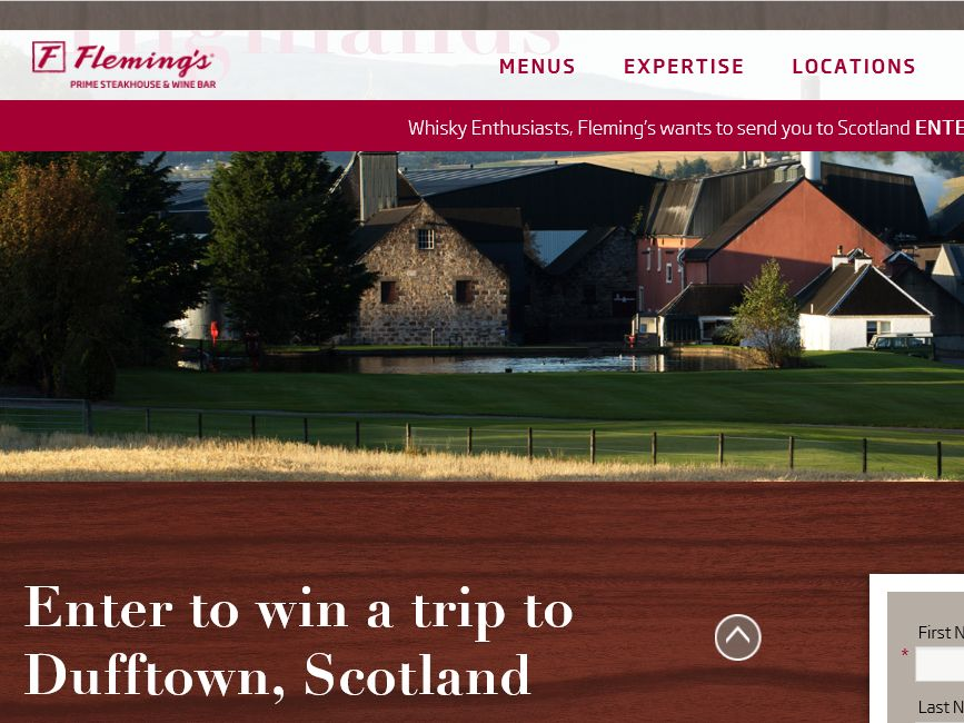 """The Fleming's Prime Steakhouse & Wine Bar """"Scotland"""" Sweepstakes"""