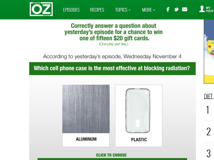 Dr. Oz Daily Watch & Instant Win Sweepstakes