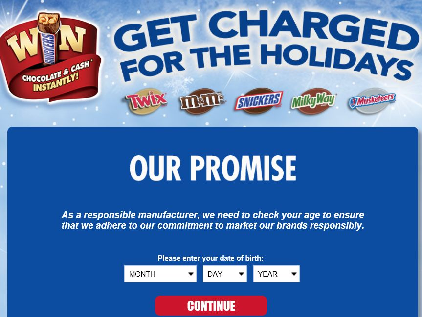 The Mars Get Charged for the Holidays Game Sweepstakes