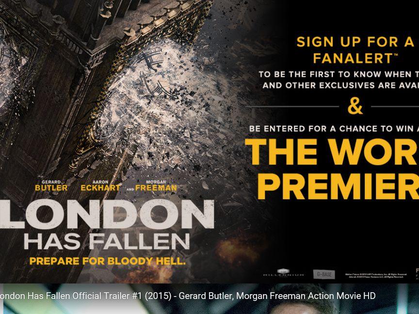 The Fandango London Has Fallen Sweepstakes