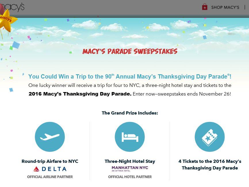 Macy s brasil sweepstakes online