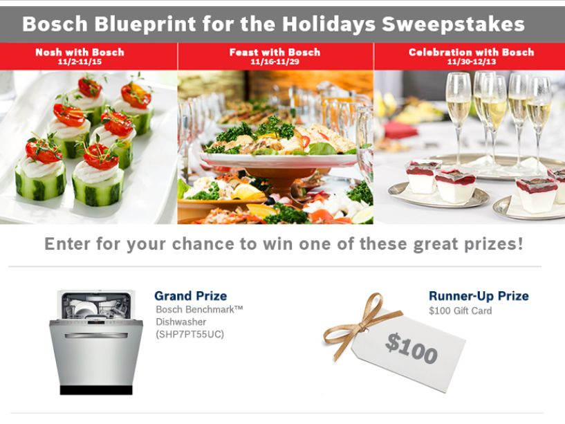 The 2015 BOSCH Blueprint for the Holidays Sweepstakes