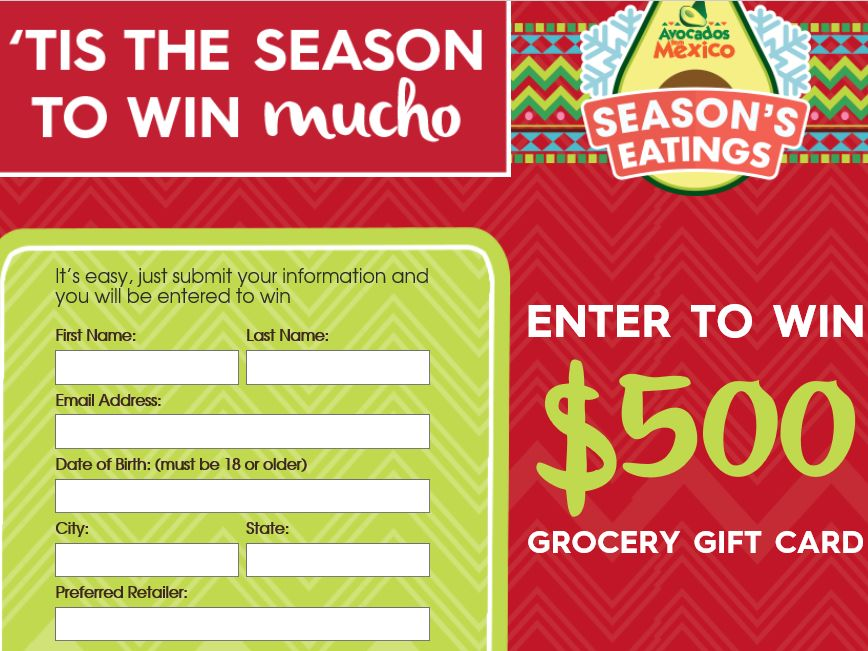 Avocados From Mexico Season's Eatings Sweepstakes