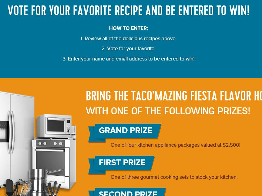 Mission Taco'mazing Sweepstakes