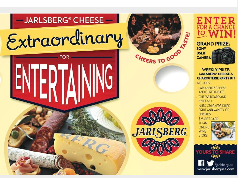 Jarlsberg Cheese Extraordinary for Entertaining Sweepstakes