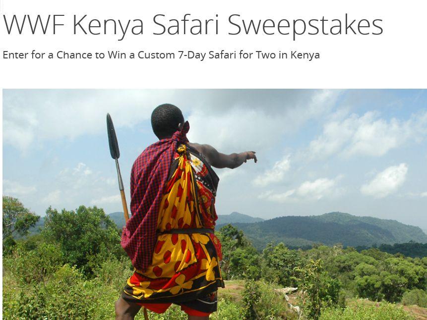 The World Wildlife Fund WWF Kenya Safari Sweepstakes