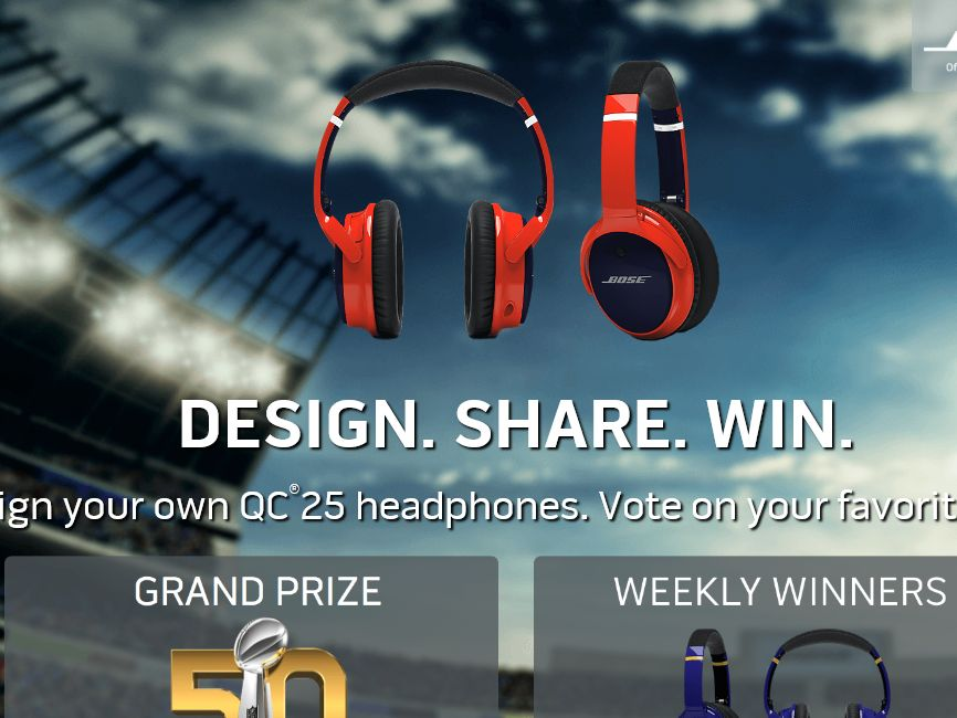 Bose Custom Design Headphones Sweepstakes