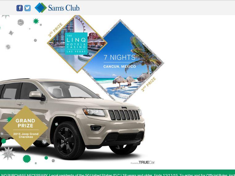 Sam's Club Holiday Getaway Sweepstakes