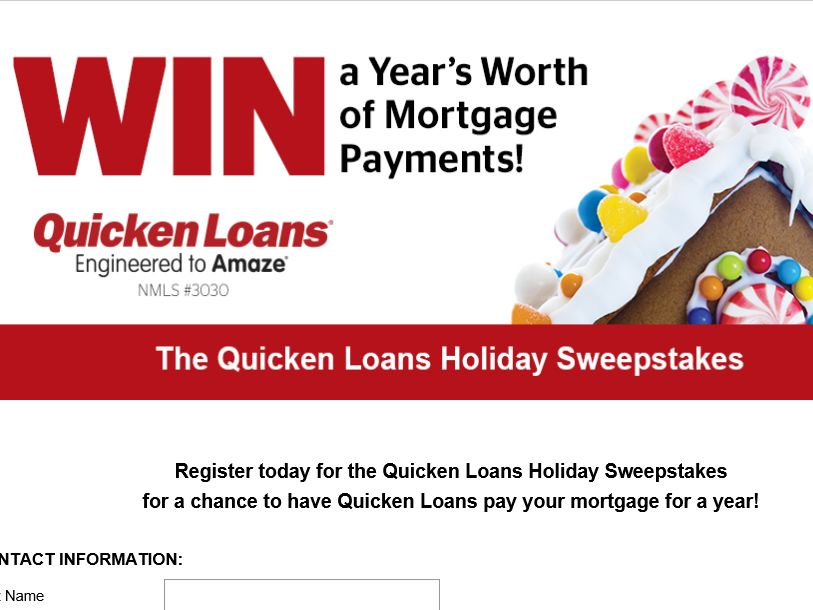 Quicken Loans Win a Mortgage For A Year Sweepstakes