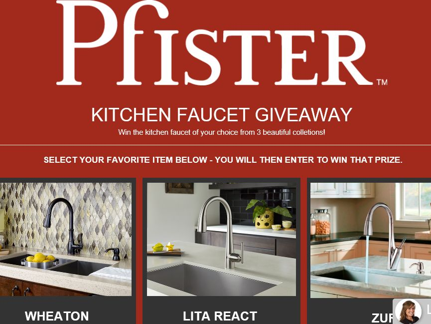 Build.com Pfister Kitchen Faucet Sweepstakes