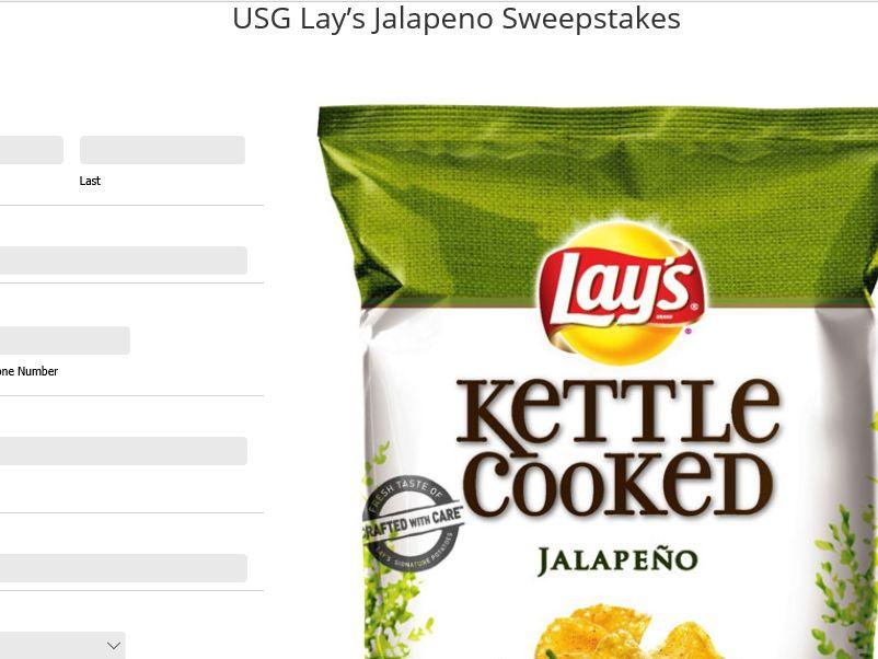 USG Lay's Jalapeno Sweepstakes