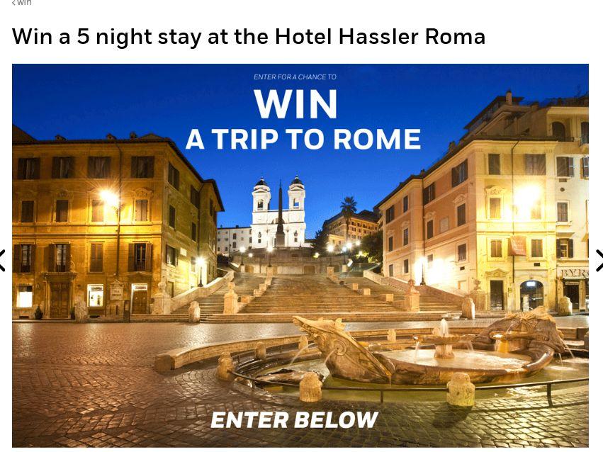 The AFAR Trip to Rome Sweepstakes