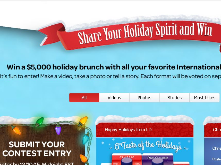 The International Delight Share Your Holiday Spirit Sweepstakes
