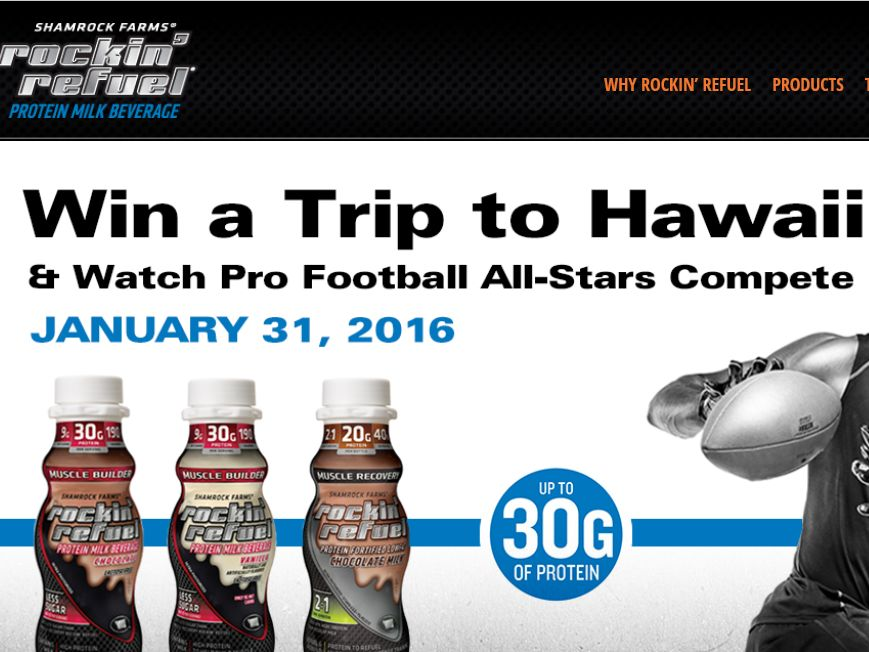 The Rockin' Refuel's Football in Paradise Sweepstakes