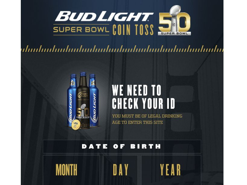 The Bud Light Super Bowl Coin Toss Sweepstakes