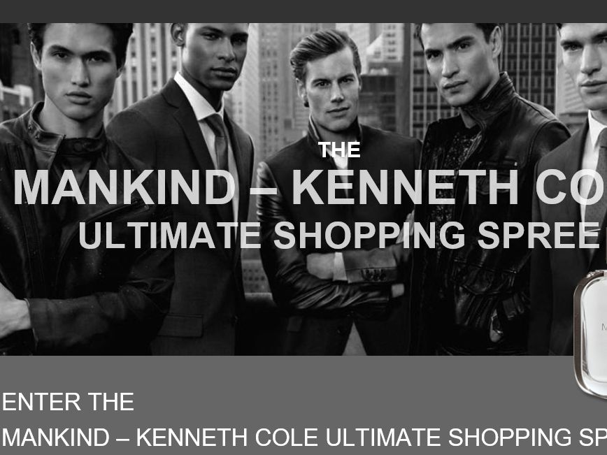 The Kenneth Cole Mankind Ultimate Shopping Spree Sweepstakes