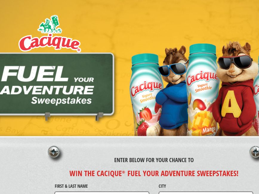 The Cacique Road Chip Sweepstakes