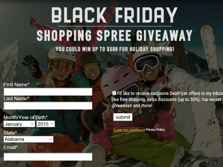 Sierra Trading Post Black Friday Sweepstakes