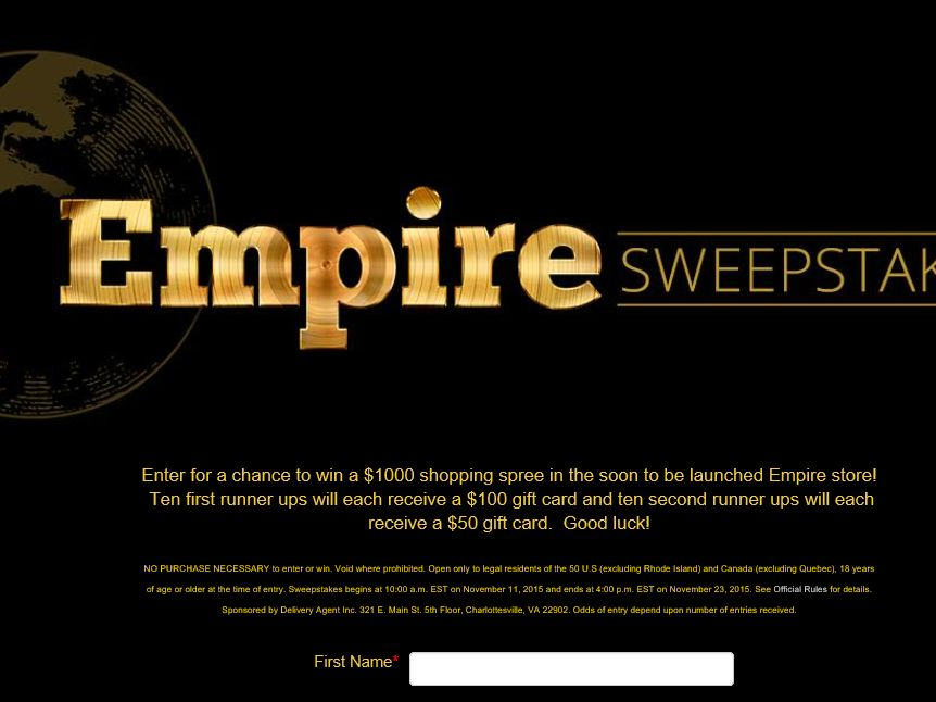 The Empire Fall Sweepstakes
