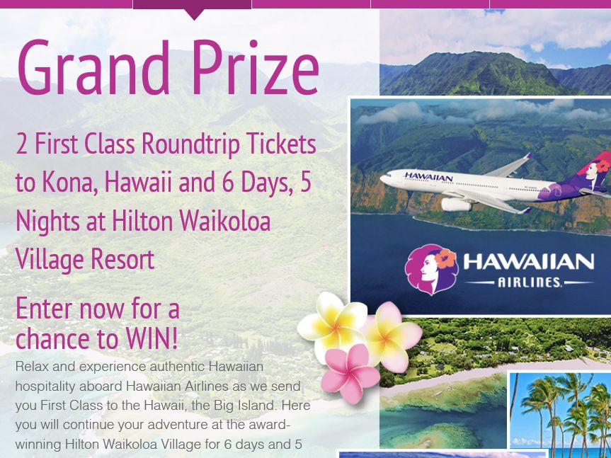 The Dole Soaring Over Paradise Sweepstakes