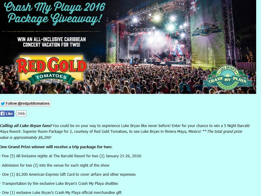 Red Gold Crash My Playa Package Giveaway Sweepstakes