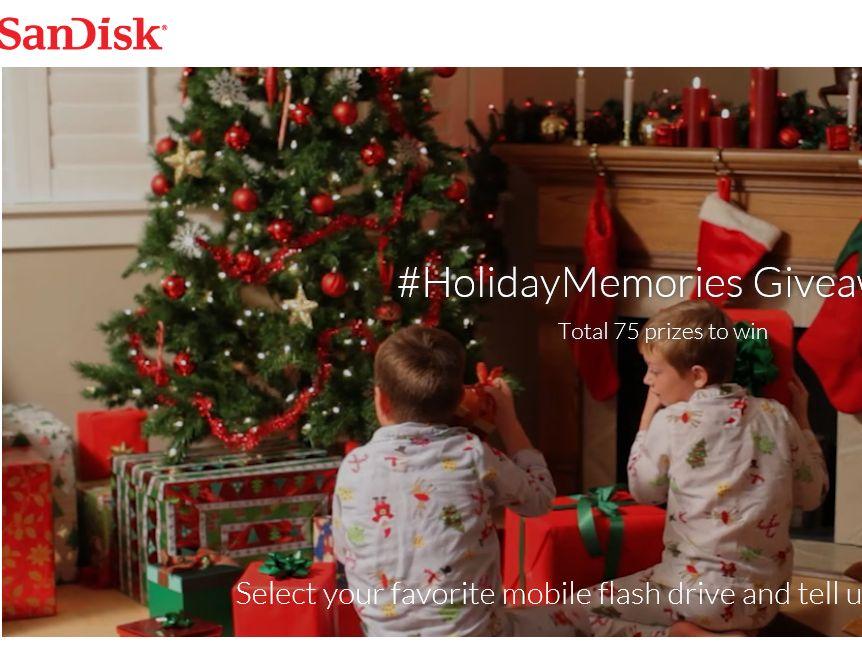 "SANDISK ""Holiday Memories"" Sweepstakes"