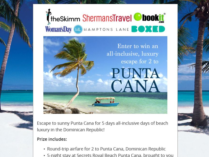 Hamptons Lane Punta Cana Escape Sweepstakes