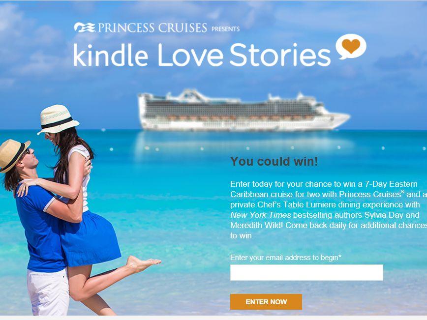 Princess Cruises Kindle Love Stories Sweepstakes