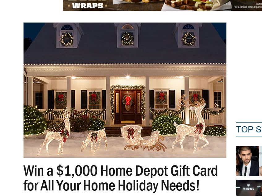 Ryan Seacrest's Holiday Home Sweepstakes