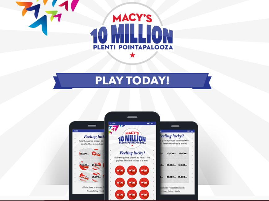 Macy's 10 Million Plenti Pointapalooza Sweepstakes