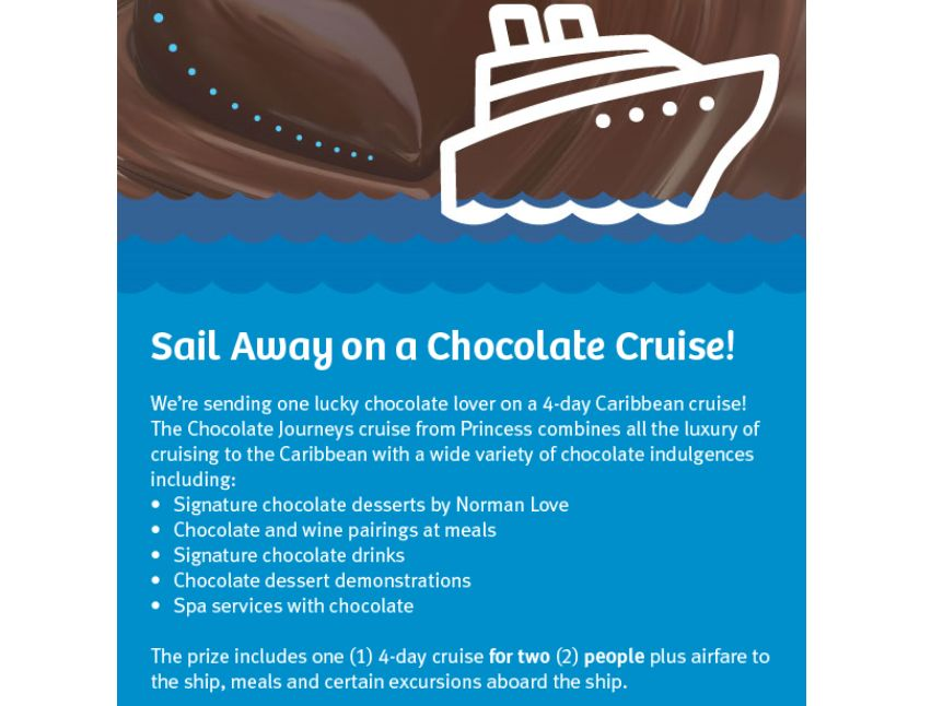 Sweet Sailing on a Chocolate Cruise with Imperial Sugar & Dixie Crystals Sweepstakes
