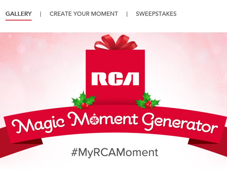 The RCA Magic Moment Generator Sweepstakes