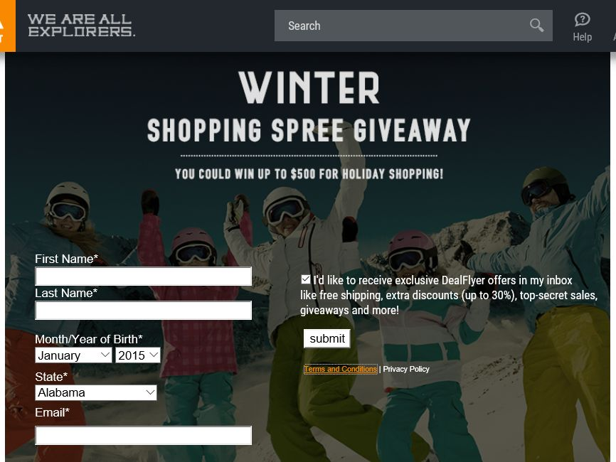 Sierra Trading Post Winter Shopping Spree Giveaway Sweepstakes