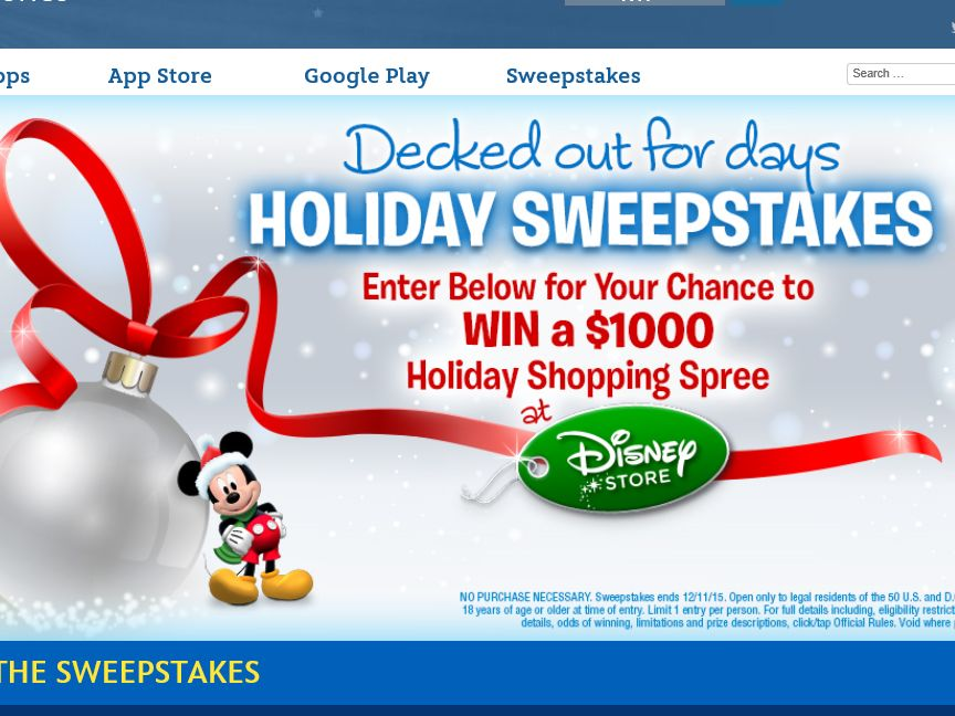 Disney's Decked Out For Days Sweepstakes
