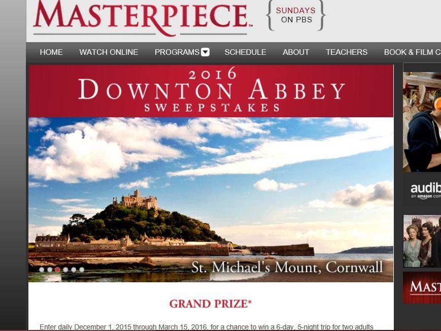 The Masterpiece 2016 Downton Abbey Sweepstakes