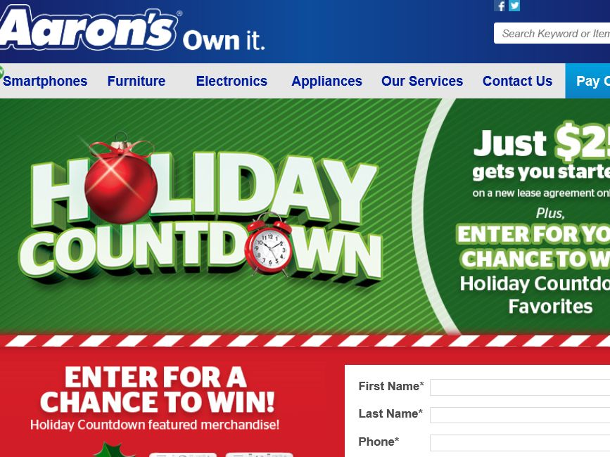 "The Aaron ""December Holiday Countdown"" Sweepstakes"