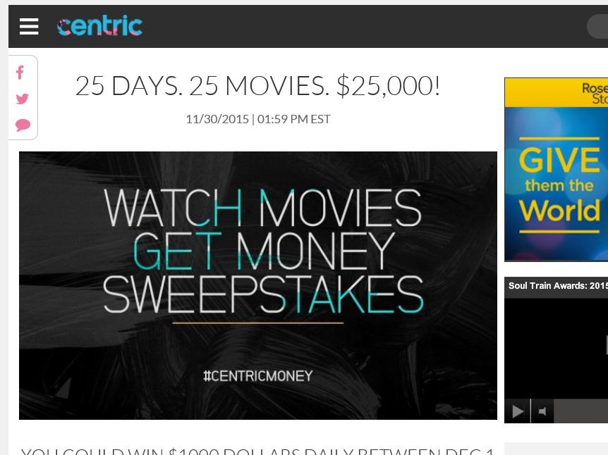 The Centric Watch Movies Get Money Sweepstakes