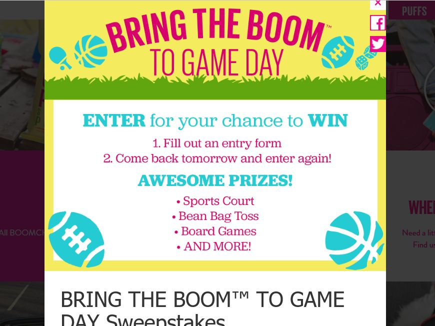 Angie's Bring the Boom Sweepstakes