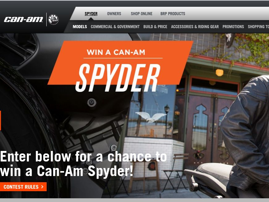 The Win a Can-Am Spyder Vehicle Sweepstakes