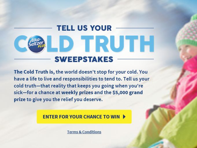 "Bayer ""ASP Tell Us Your Cold Truth"" Sweepstakes"