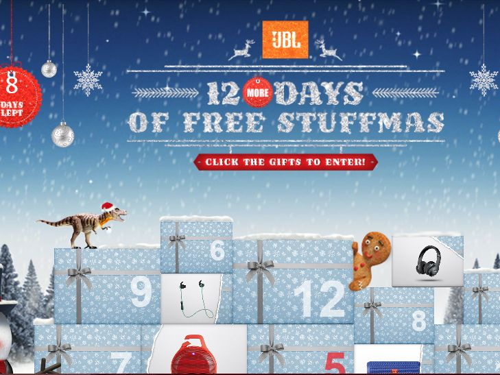 The JBL 12 Days of Free Stuffmas Sweepstakes
