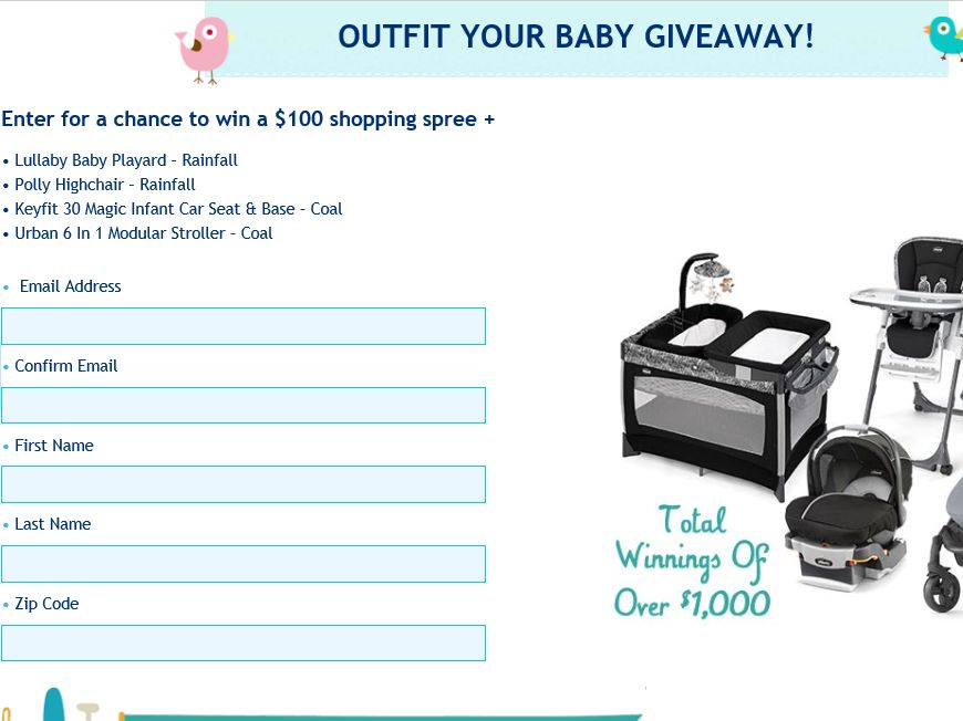 The Chicco Outfit Your Baby Giveaway Sweepstakes