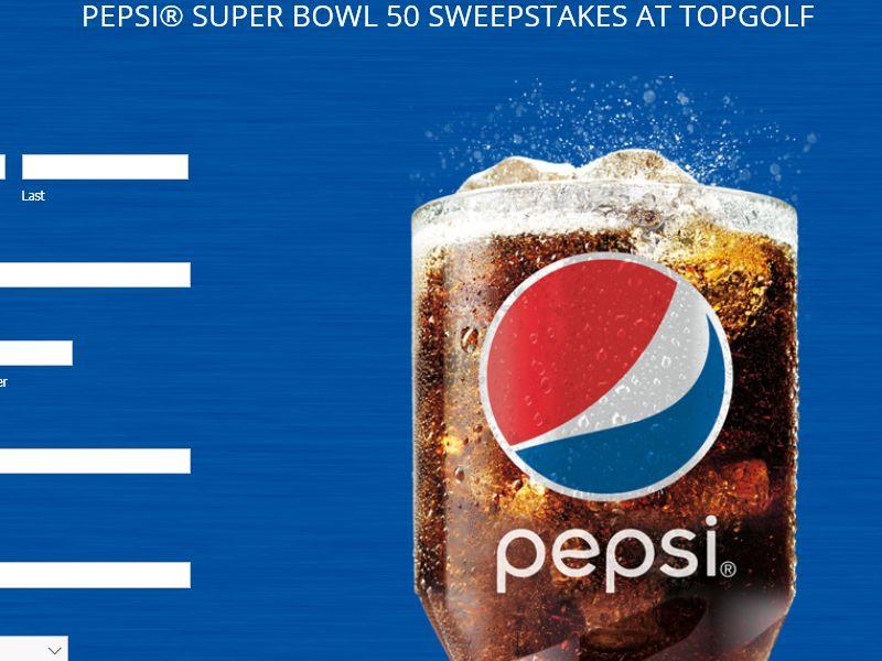 PEPSI Super Bowl 50 Sweepstakes – Select States