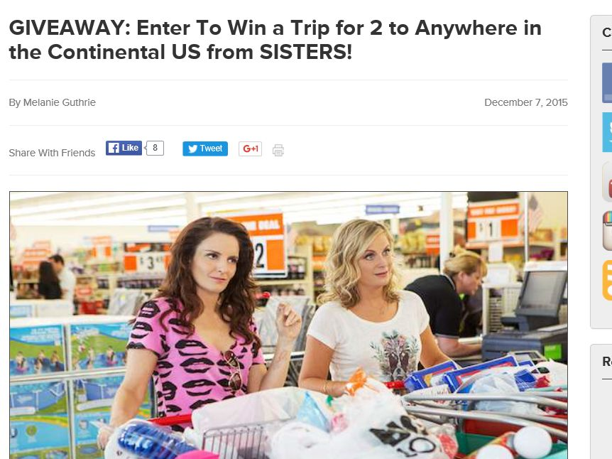 "The AMC Theatres ""SISTERS"" Sweepstakes"
